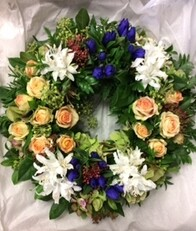 Peach Formal Wreath