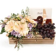 Seasonal Fruit & Chocolates with Pastel Posy