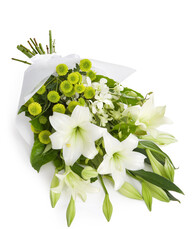 Elegant Lillies with Lime Accent