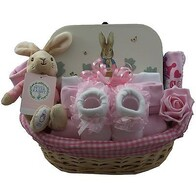 Peter Rabbit -Baby Girl Gift Basket